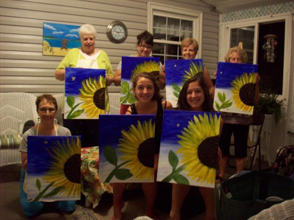 A Brush With Wine Home Painting Party Service That Brings The To You Fun And Custom Designed For Just Your Or Special